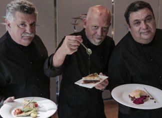 Λαζάρου, Πέσκιας και Παρλιάρος δημιουργούν το μενού για τη Business Class της Aegean