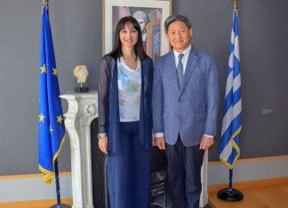 Συνάντηση Κουντουρά με τον Πρέσβη της Δημοκρατίας της Κορέας
