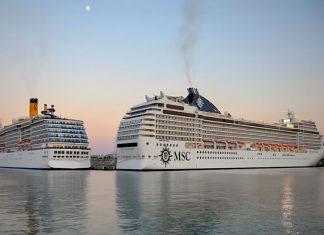 Πλήρες το λιμάνι του Ηρακλείου από κρουαζιερόπλοια το Φθινόπωρο