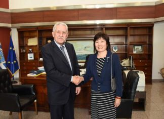 Διμερής Συνάντηση ΥΝΑΝΠ με την Πρέσβη της Λαϊκής Δημοκρατίας της Κίνας