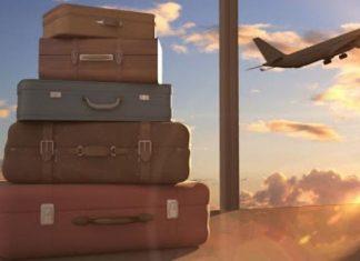 ταξίδια βαλίτσες αεροπλάνο